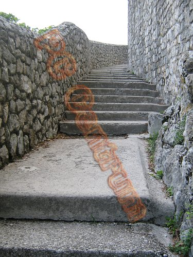 Stairway in Gemona, Italy